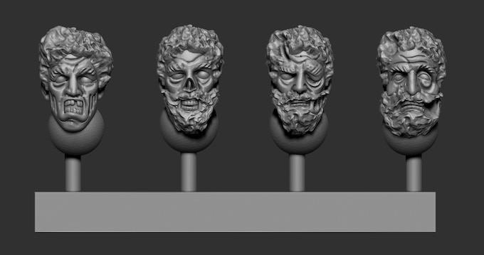 Greek Heads Pack 4