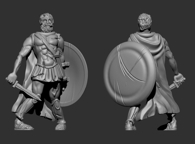Greek Commander - Shield & Head shown attached to body for illustration purposes only!