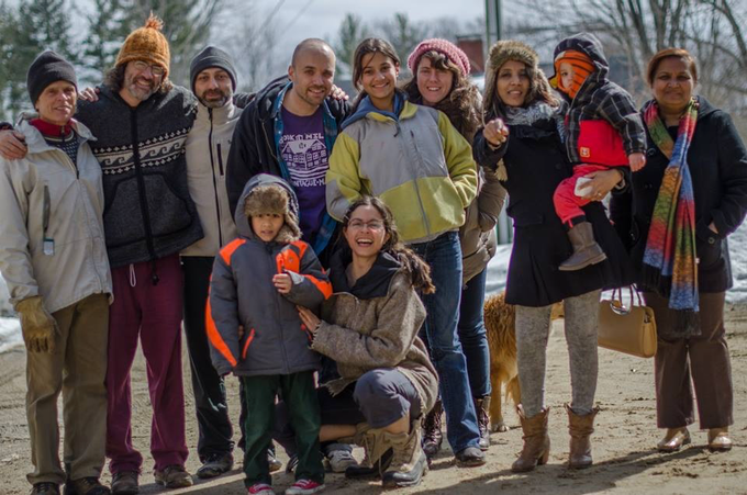 some of our friends on a kirtan retreat at Bethel Farm in New Hampshire