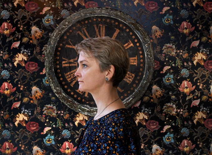 Reward print #3 Yvette Cooper, MP for Normanton, Pontefract and Castleford photographed by Hannah Starkey