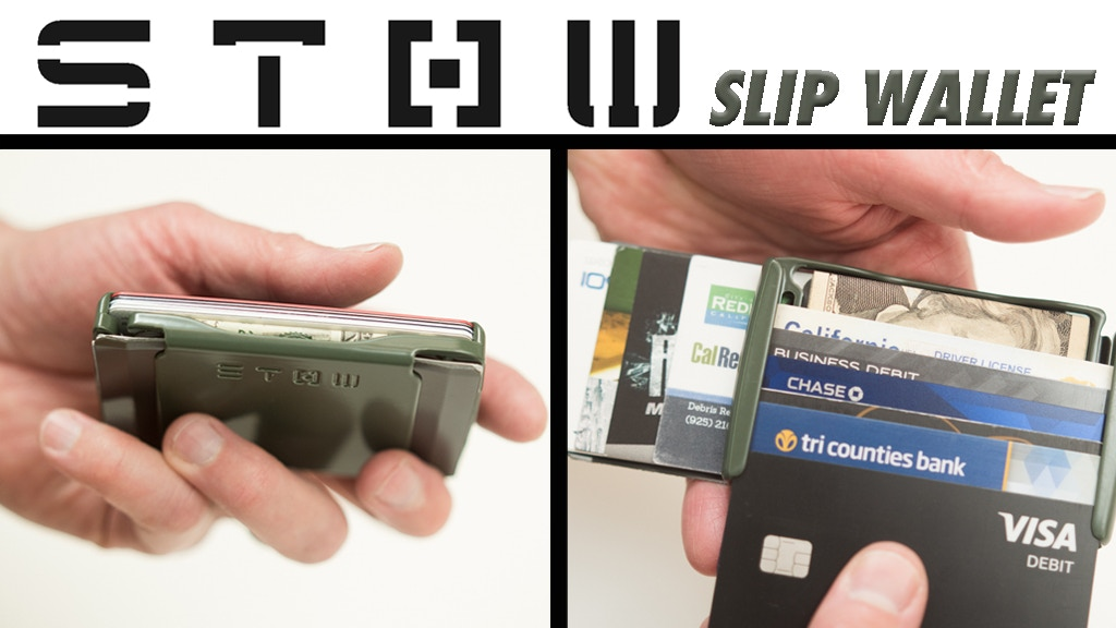 The Slip Wallet by STOW — Form, Fit, Function and Fire by
