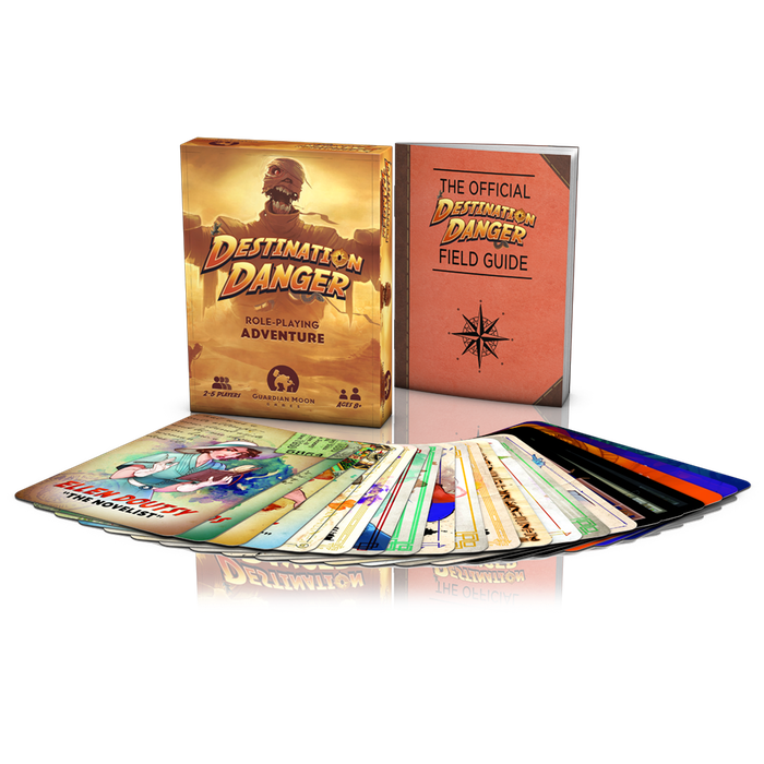 Destination Danger is a pocket-sized role-playing adventure set in the 1930s. It can be played anywhere, anytime, and with anyone!