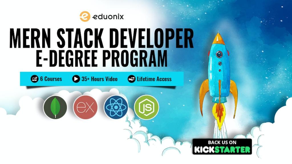 MERN Stack Developer E-Degree project video thumbnail