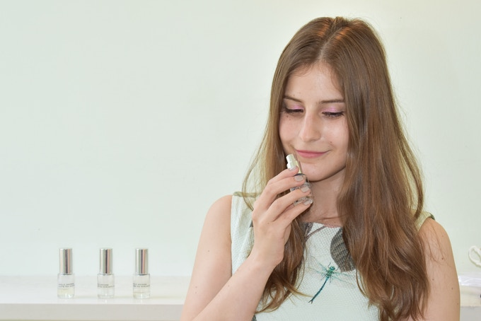Arielle Shoshana founder Arielle Weinberg doing some Sunday sniffing.