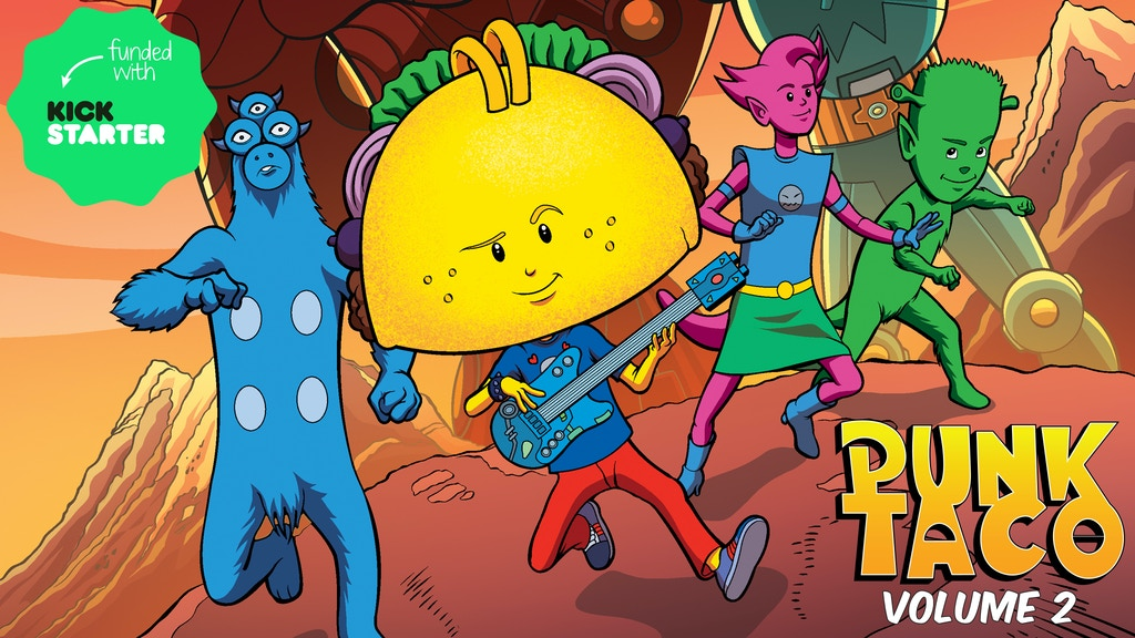 PUNK TACO: Giant Problems! An All Ages Graphic Novel project video thumbnail
