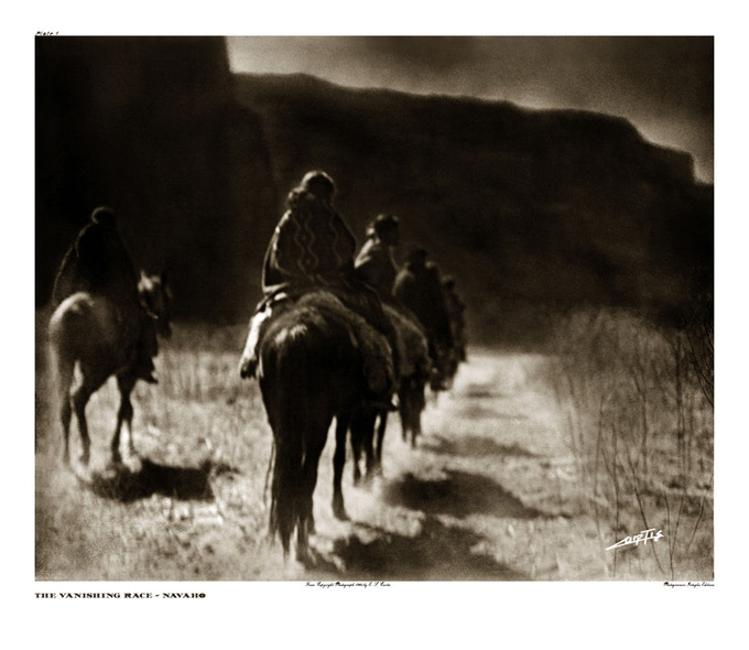 Vanishing Race - Navaho by Edward Curtis 1904