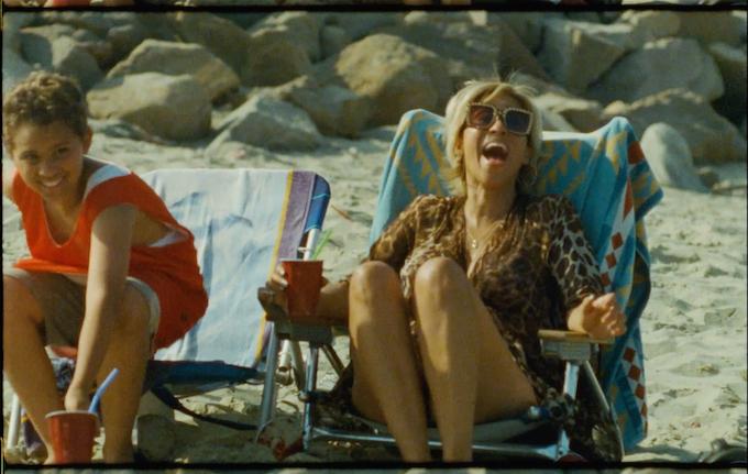 Nico (Nico Rockwell) and Eve (Karyn Parsons) enjoying the nice beach weather.