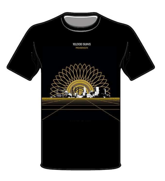 10,000 SUNS LOGO T-SHIRT W/ $50 DONATION OR MORE 2017 VERSION