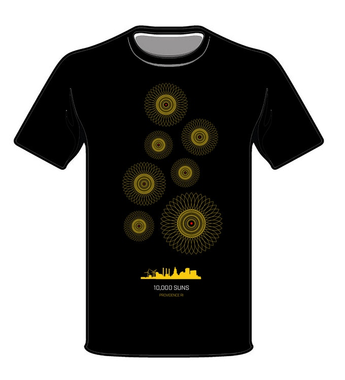 10,000 SUNS LOGO T-SHIRT W/ $50 DONATION OR MORE 2019 VERSION