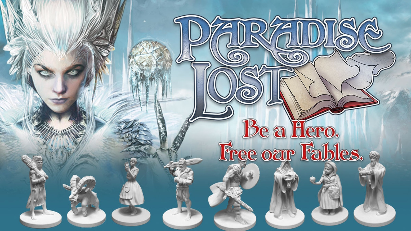 Epic, fantasy deduction boardgame for 2-5 players.  Be a Hero, free our fables as you battle the Ice Witch & restore hope to the world.