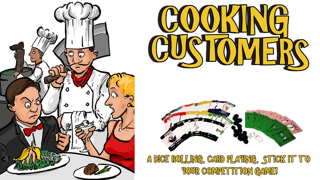 Cooking Customers - a Card and Dice Game