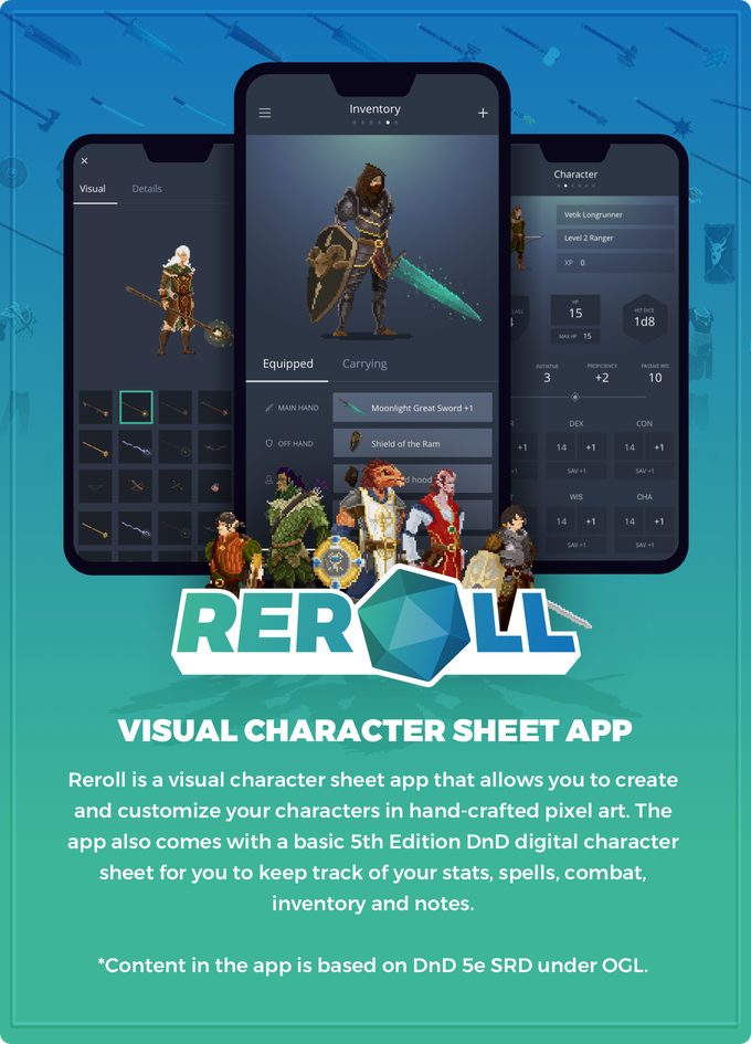 d&d 5th edition character sheet app
