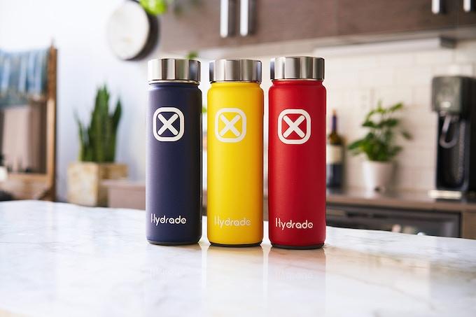 Hydrade | Solar-Powered Double Wall Smart Bottle by origigy.com origigy backers today kickstarter indiegogo