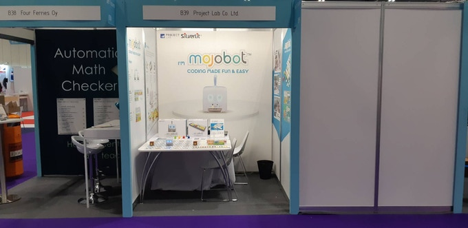 Our little booth at the Bett Show 2019 (London, United Kingdom).