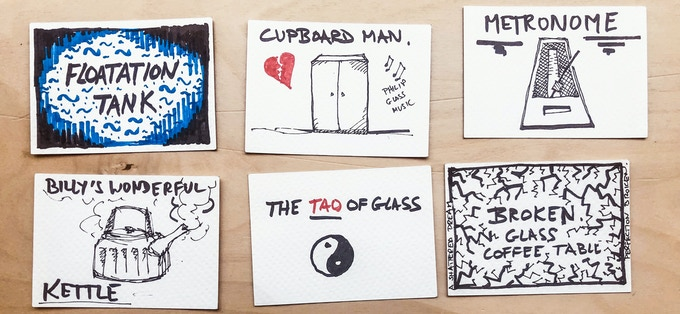 Example of artworks in Tao of Glass storyboard, hand-drawn by Phelim McDermott
