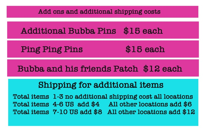 Bubba and his friends patch will be available as stretch goal #2, when we reach $3200