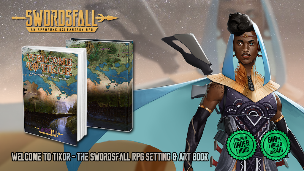 An Afropunk Sci-Fantasy world brimming with ancient magic and future tech.