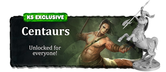 Since we fully funded in 72 hours, the centaur race (3 over-sized miniatures) is free for all backers of this campaign!