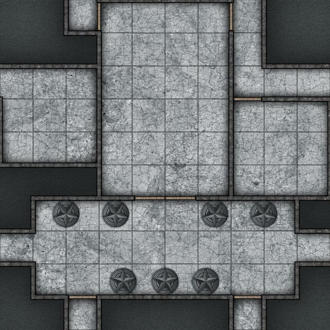 "A sample battemat 10""x10"" tile."