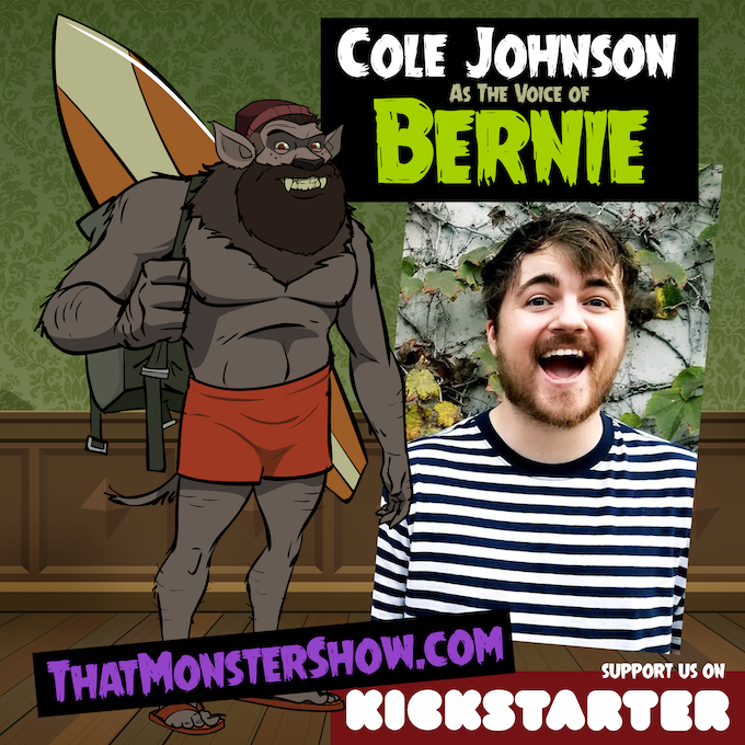 Cole Johnson as Bernie The Werewolf Guy!