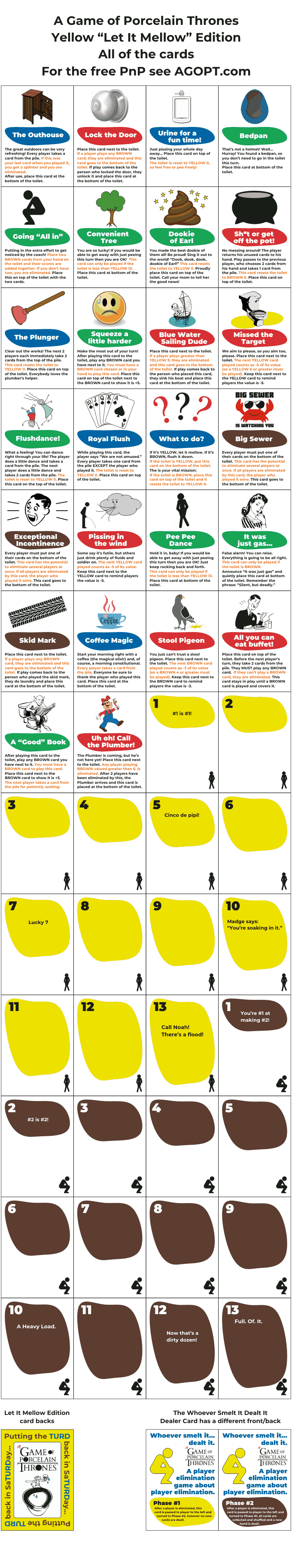 "Download a free PnP of the Yellow ""Let it mellow"" Edition"