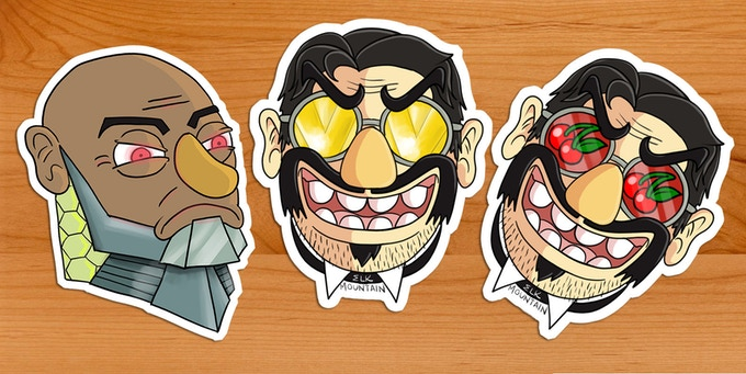 Stickers by Mike Riley