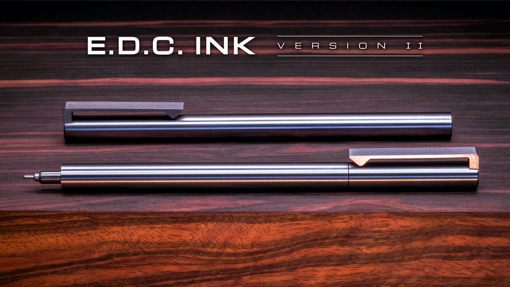 "V2 • Titanium ""EDC Ink"" Clip, Pocket, & Keychain Pens project video thumbnail"