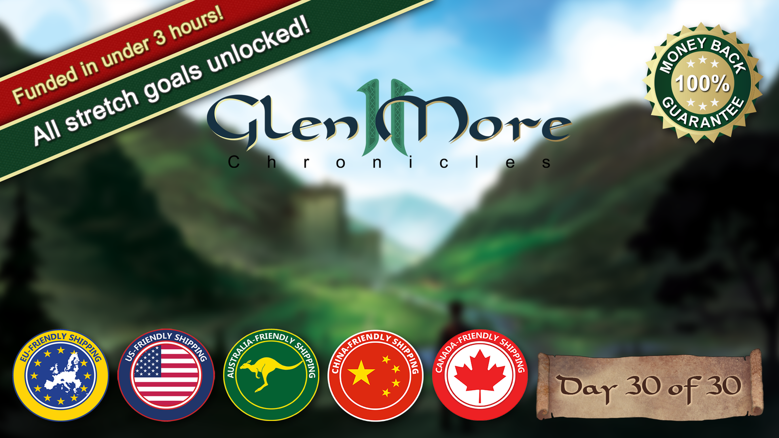Glen More II: Chronicles is Matthias Cramer's new tile-laying game of epic proportions, with top-notch material and great replayability