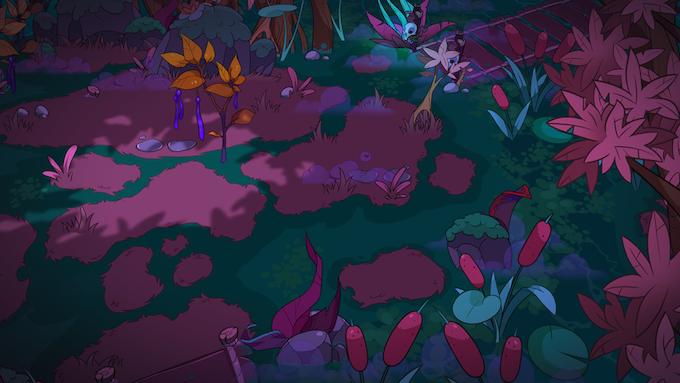 Actual in-game swamp environment