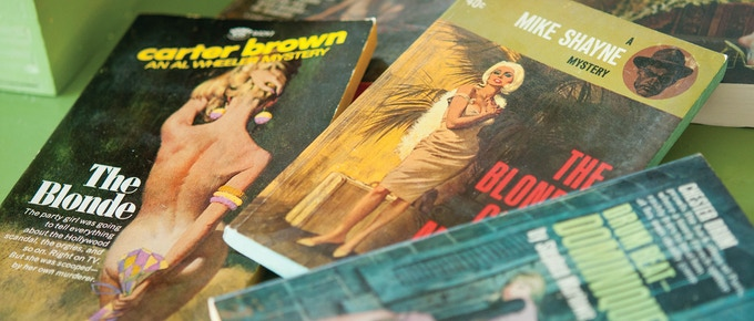 Pulp paperback covers by Robert McGinnis
