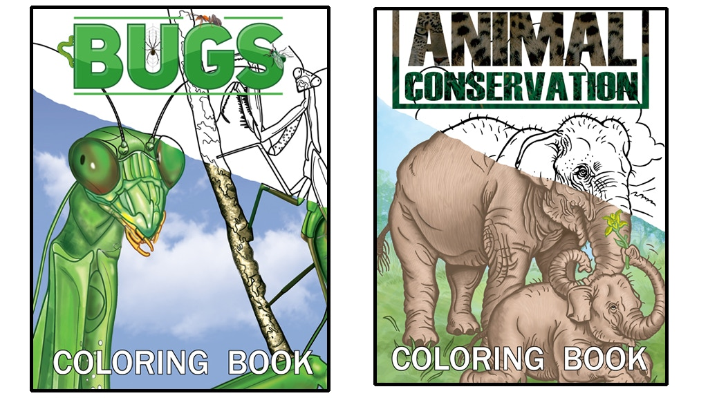 BUGS and ANIMALS coloring books 48 pages for $1 by Johnny Lauck ...