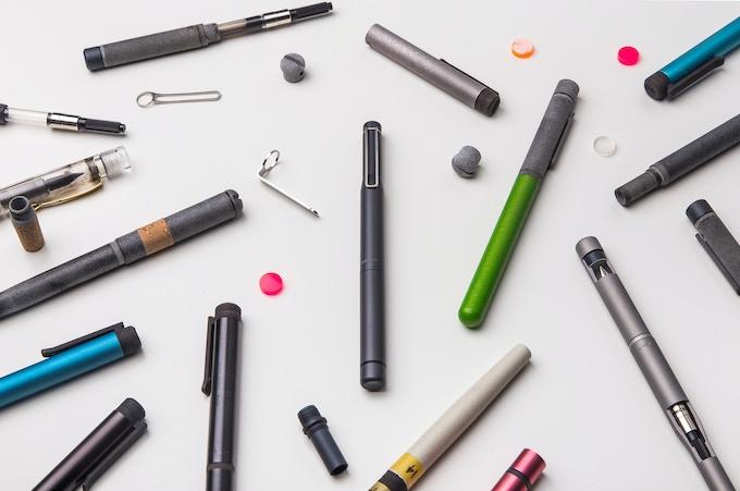 IndiGraph Fountain Pen between prototypes.