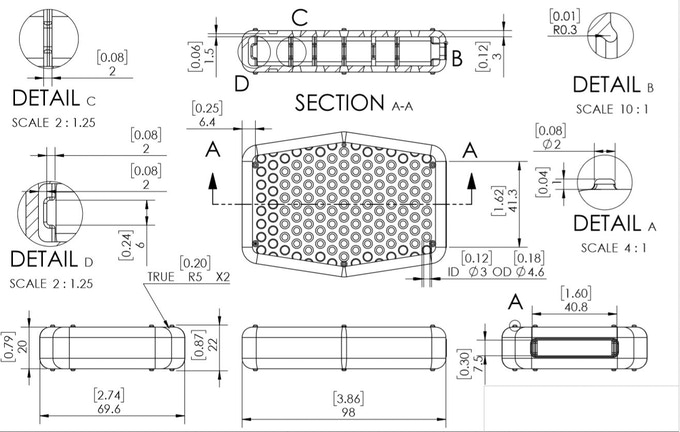 From interior support pillars, sizing, reservoirs, all the way to the shape is designed with a purpose.