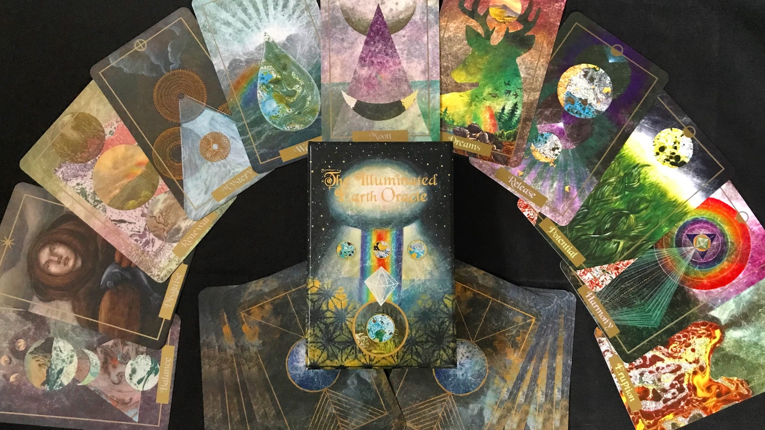 The second printing for my original hand-painted and collaged oracle deck inspired by the beauty and mystery of the natural world.