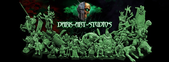 A collection of dark fantasy miniatures, 28-32mm scale, traditionally sculpted, cast in white metal & high quality resin.
