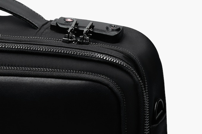 TSA-approved Travel Sentry Lock keeps the main compartment secure. A hidden back pocket keeps valuables concealed and closest to the body.