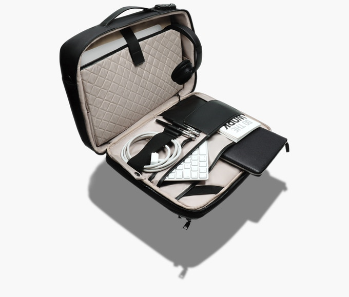 """Main compartment large enough for a 15"""" laptop."""