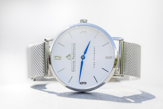 Ineo Conquest Prestige Silver with a Silver mesh bracelet