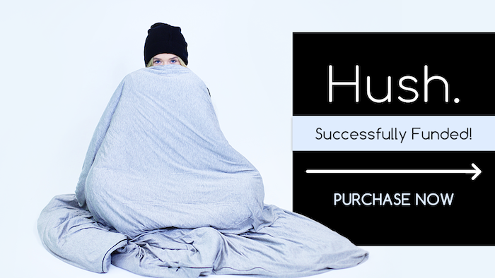 Achieve a deeper sleep and reduce your anxiety with Hush's new cool-to-the-touch, sweat-wicking weighted blanket.