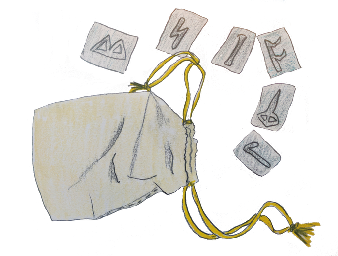This set of metal runes came packaged with Ultima Underworld: The Stygian Abyss.