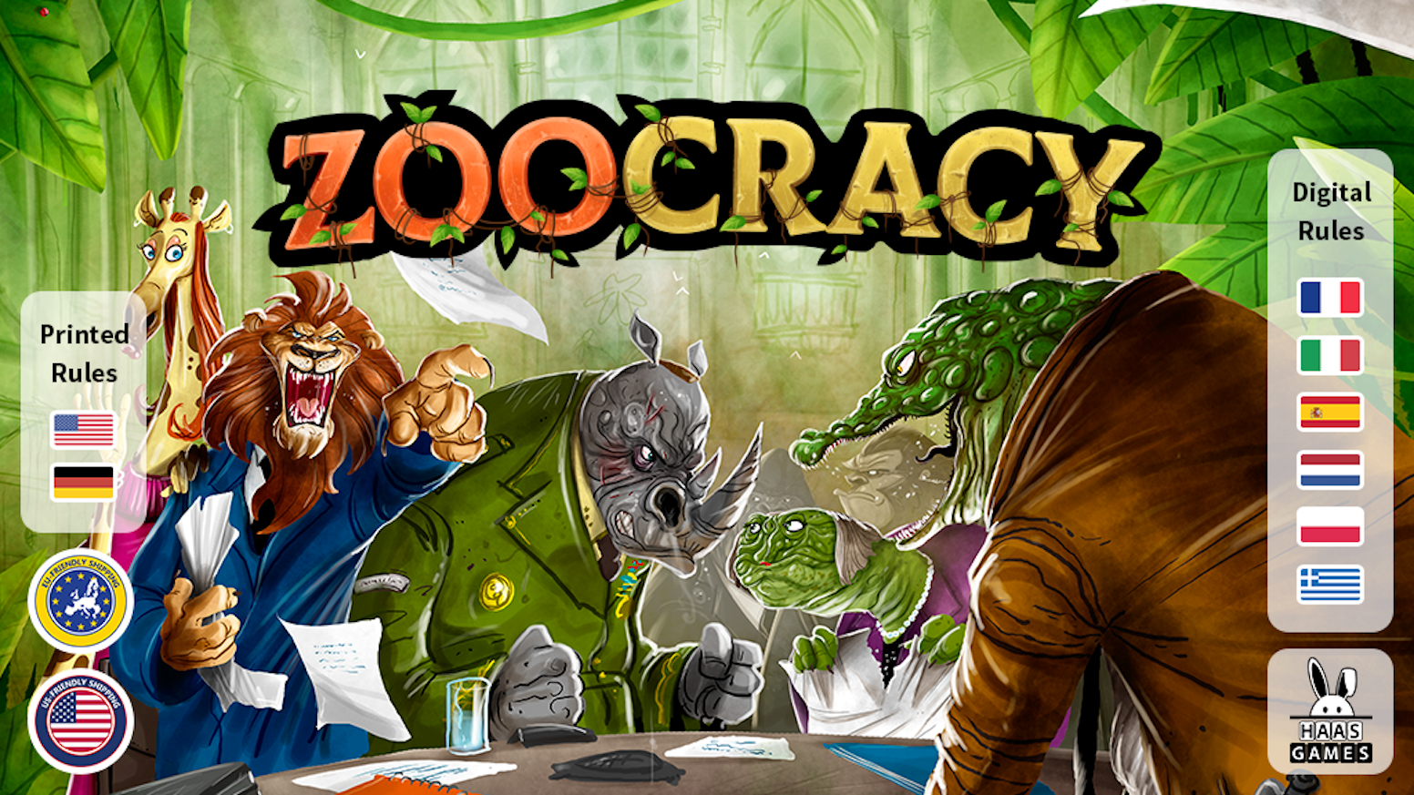 A highly interactive & language independent political strategy game
