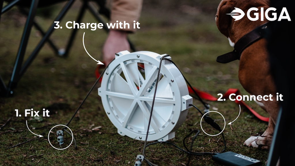 GIGA | A Portable Wind Turbine for USB Charging project video thumbnail