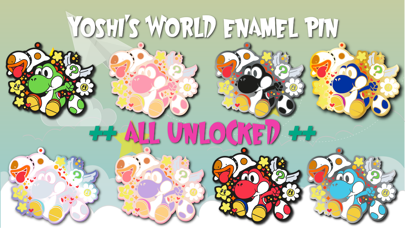 Yoshi Hard Enamel Pin Fully Funded By Artjom Ri Kickstarter