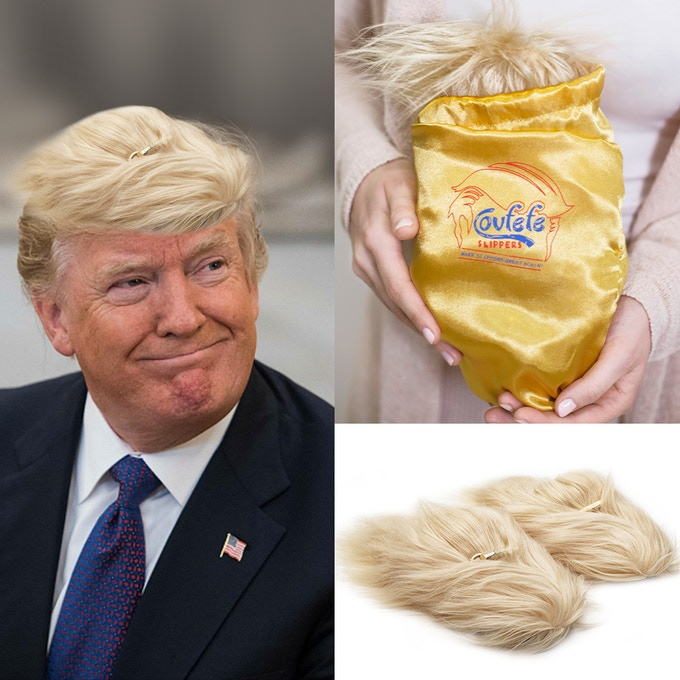 Covfefe slippers can be found on both sides of the aisle (or closet) repealing and replacing whatever Obama liked.