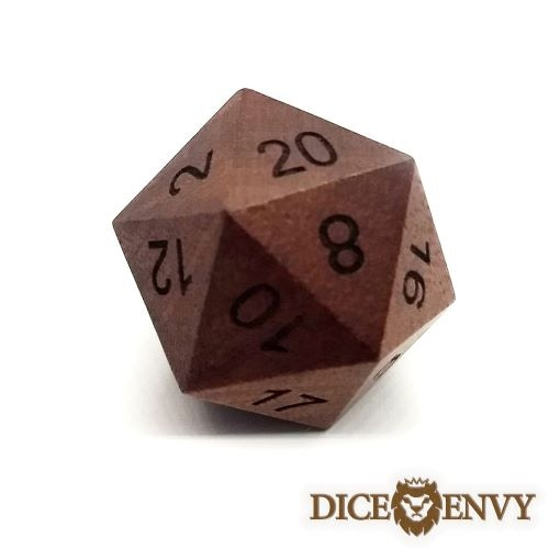 Our first material offered is Red Sandal Wood. When a material unlocks, both the standard set and the d20 Chonky Boi are available.
