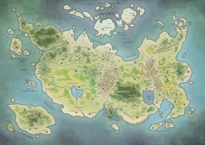Map of Aerikar