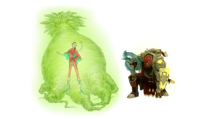 The Planeshifter and the Survivalist. Art by Emilie Kelly.