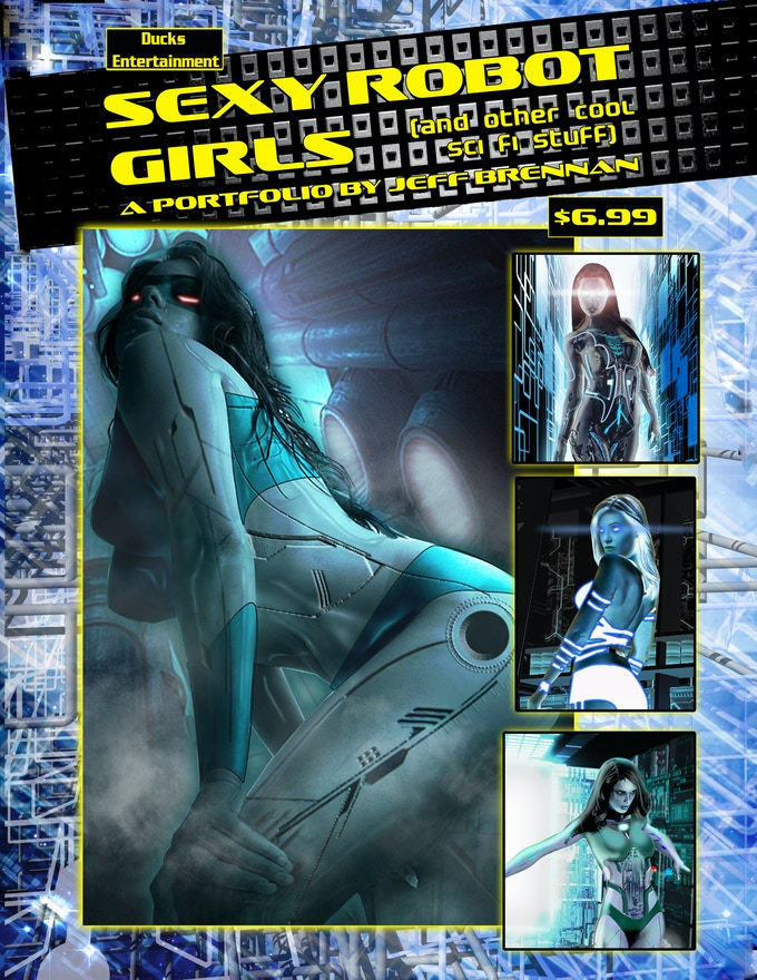 cover of the 40 page sexy robot girl book regular version