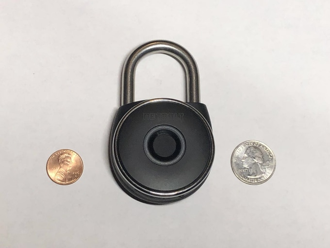 Comparing lock with quarter and penny