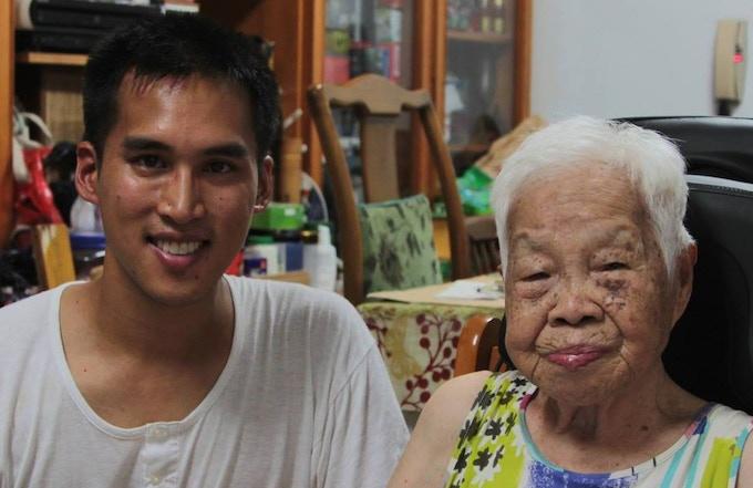Grandma and I, circa 2014. 阿嬤與我,2014年。
